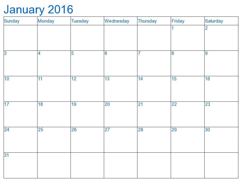 December 2016 Calendar Waterproof