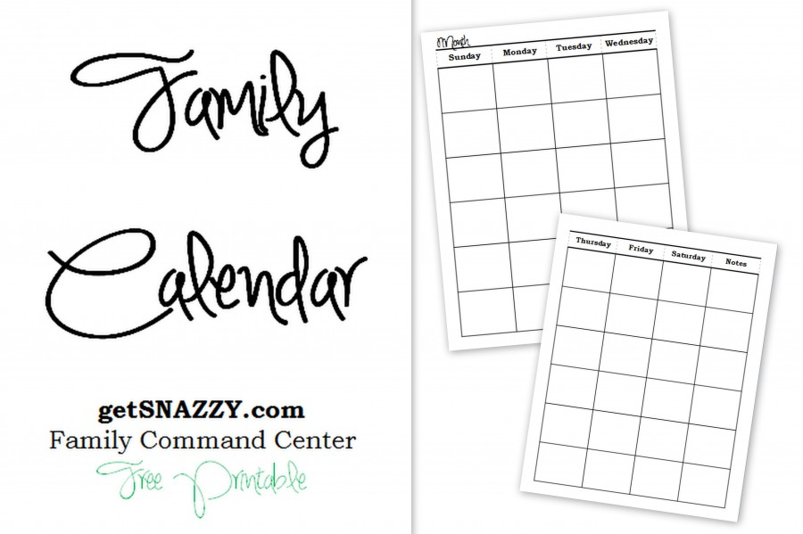 Diy Organized Family Command Center {free Printables}