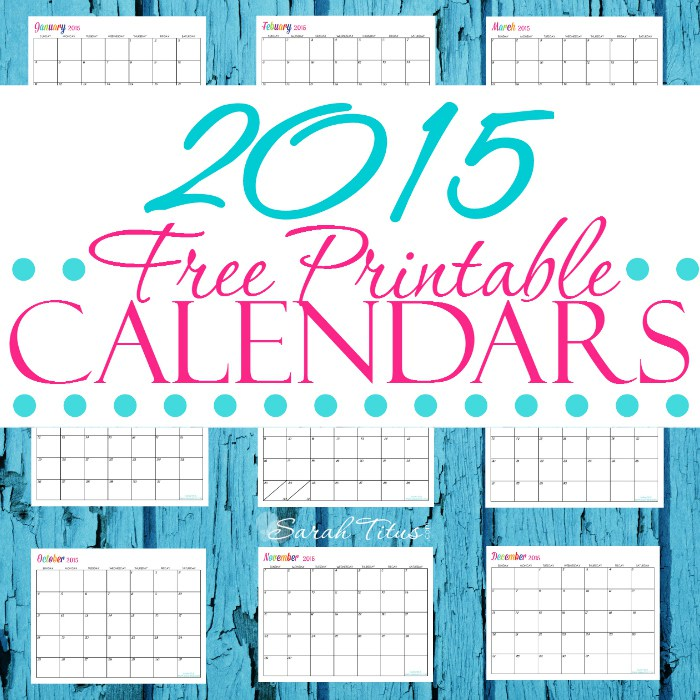 Free Custom Yearly Calendars