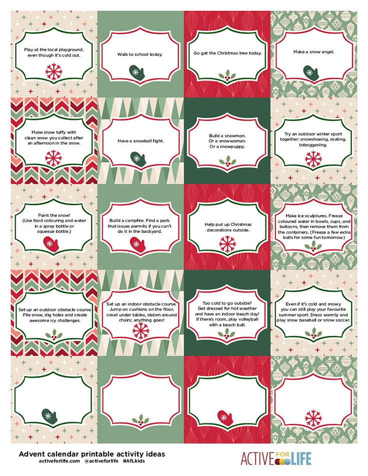 Free Printable 2016 Advent Calendar