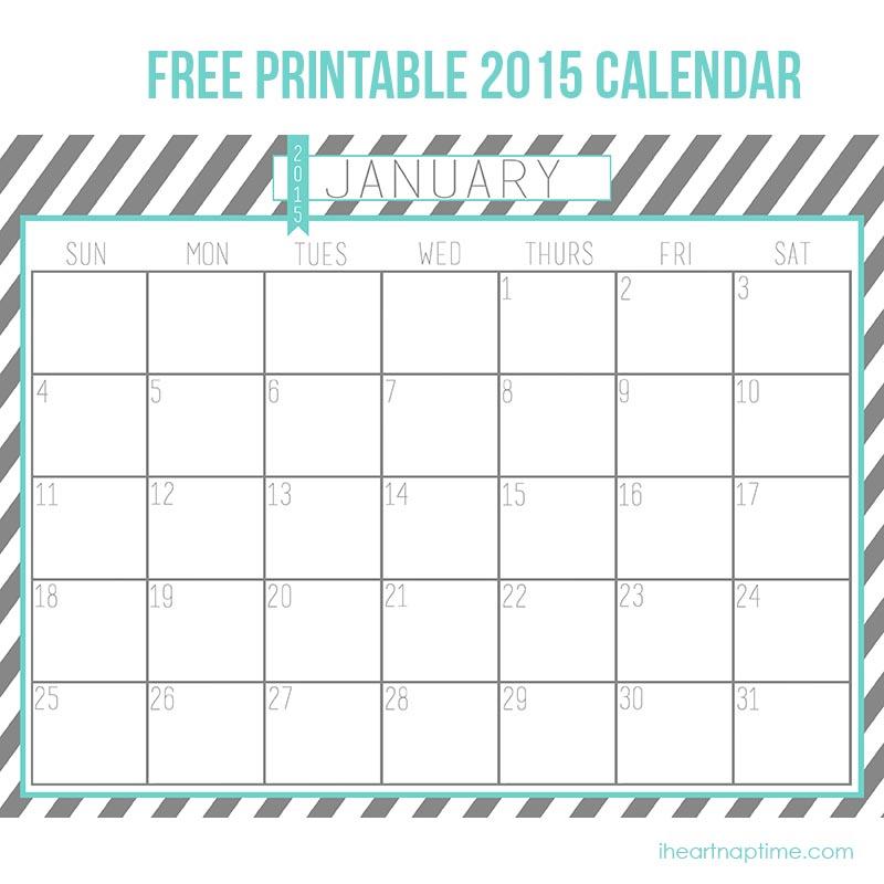 Free Printable Calendar 2015
