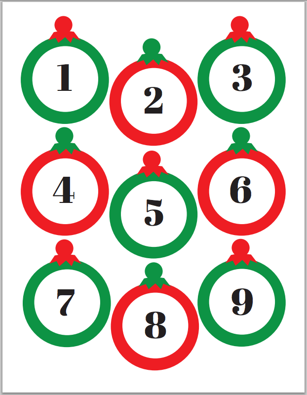 Free Printable Christmas Advent Calendars