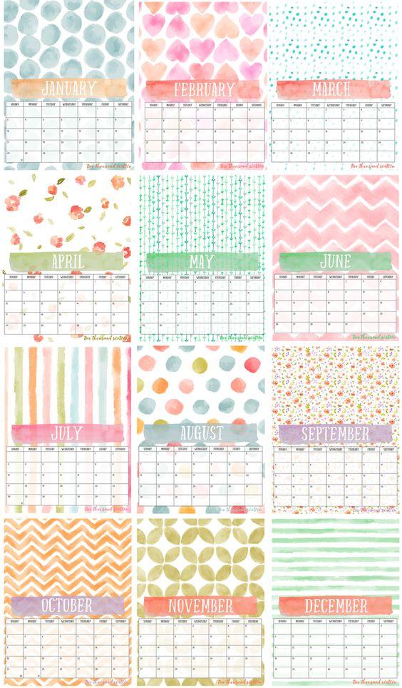 Free Printable Photo Calendar And Diy Display Board