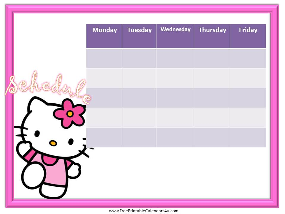 Hello Kitty 2016 Photo Calendars (monthly And Yearly) The