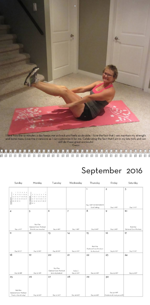 Hiitit Ca 2016 Printable Calendar   Hiitit Ca Daily 12 Minute Workouts