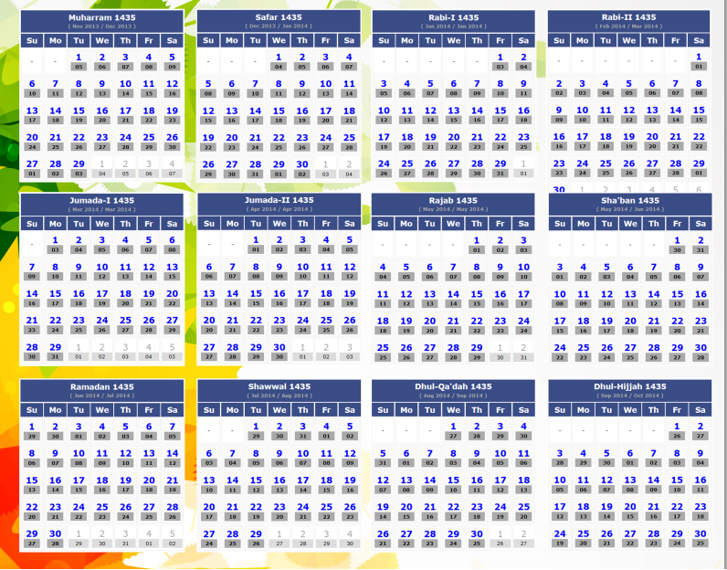 Islamic Calendar 1436 Related Keywords & Suggestions