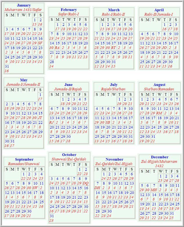 Islamic Calendar Related Keywords & Suggestions