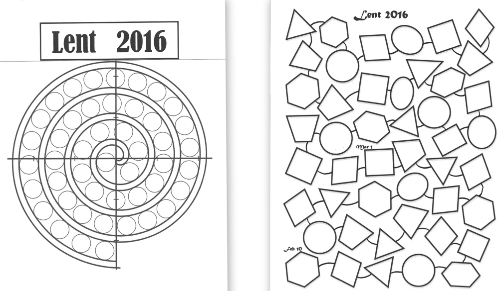 Lenten Calendar Templates 2016
