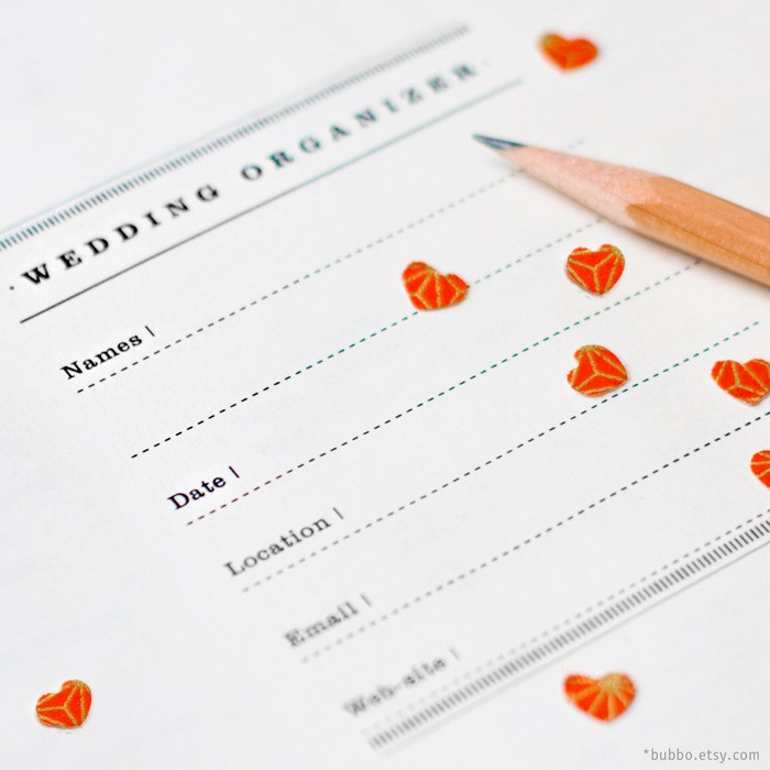 Letter Printable Wedding Planner 50 Kinds Of Worksheets By Bubbo