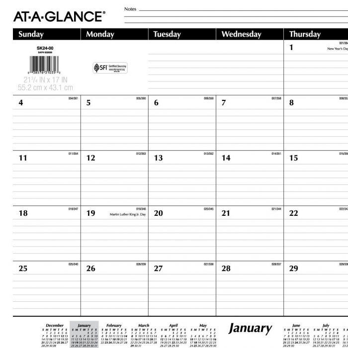 Lined Monthly Calendar