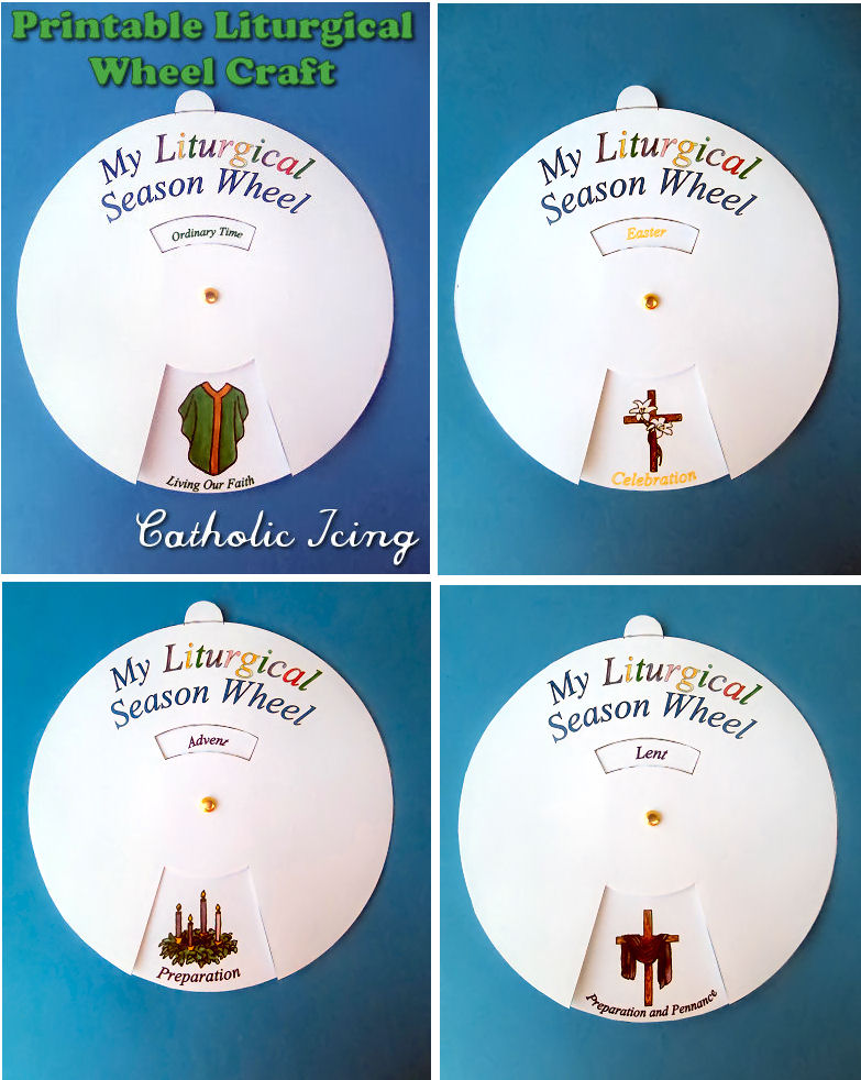 Liturgical Calendar; Printable Craft For Catholic Kids!