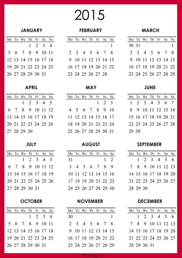 Make And Print Your Own Calendar Online For Free