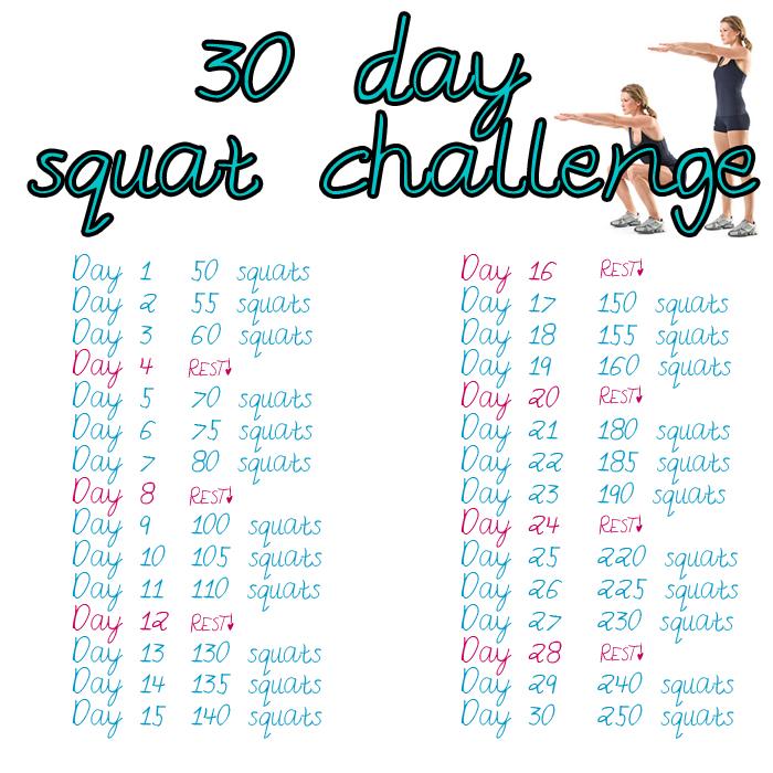 Much Easier Squat Challenge 30 Day Squat Challenge