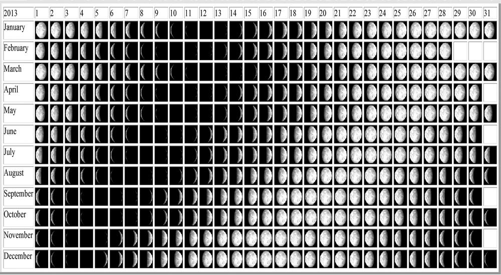 Nasa Moon Phases Calendar 2013 (page 2)