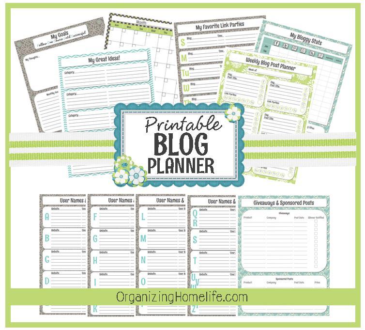 Organized Blog Planner {free Printable} Generic Calendar
