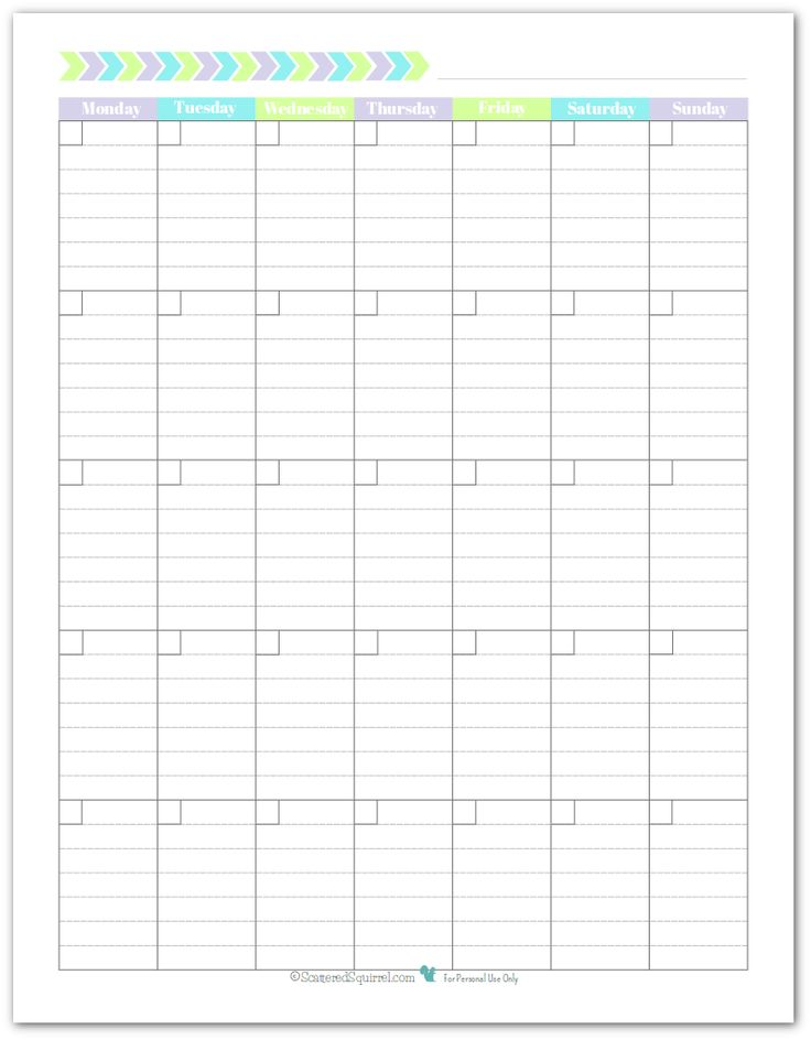 Free Printable Monthly Calendar With Lines : Free printable lined monthly calendar template