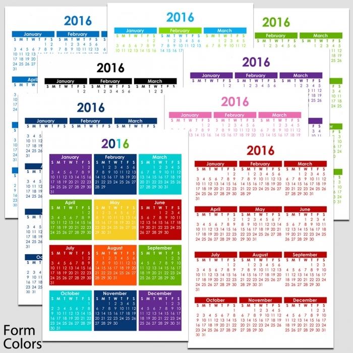 Printable 5 Year Calendar 2015 2020