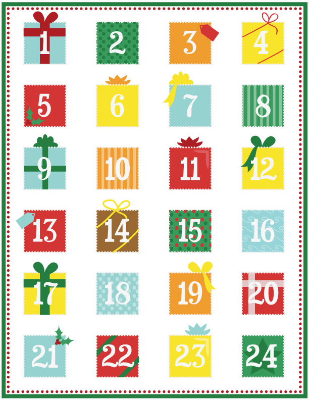 Printable Advent Calendar – Page 1 – Calobee Doodles