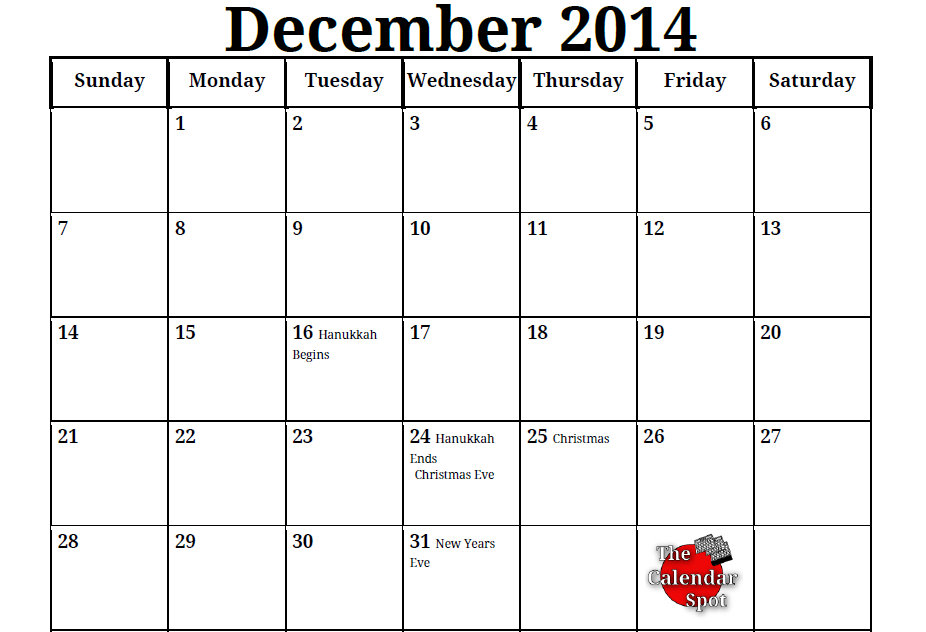 Printable Coloring Calendars For 2014