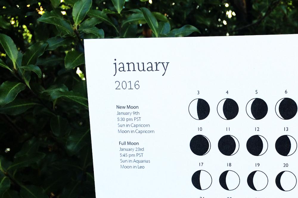 Printable Moon Calendar