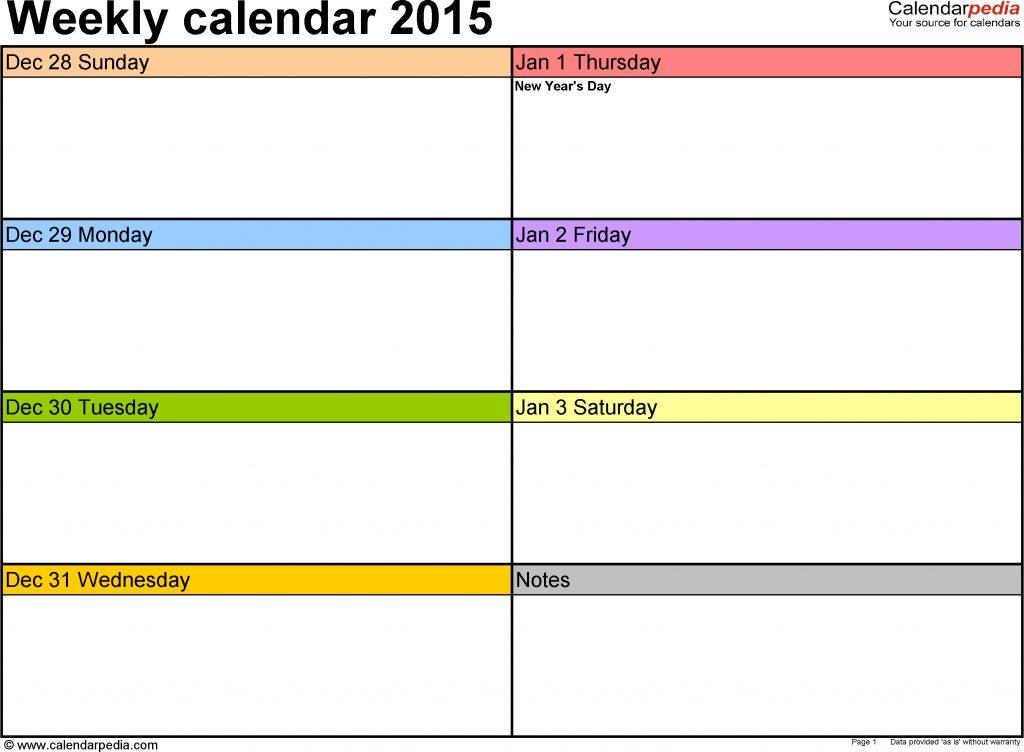 Printable Two Week Calendar 12 03 Pm » Calendar Template 2017
