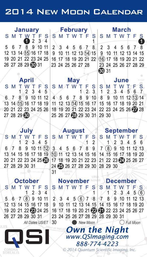 Qsi 2014 New Moon Calendar
