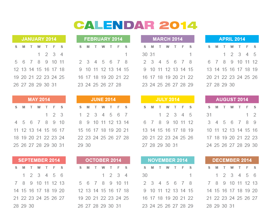 Small Printable Calendars  Calendar Template