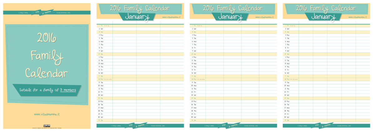 The New 2016 Family Calendar By Vitadimamma! – Vita Di Mamma