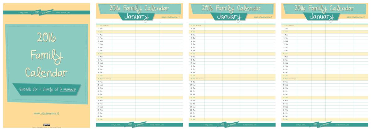 The New 2016 Family Calendar By Vitadimamma! – Vita Di Mamma