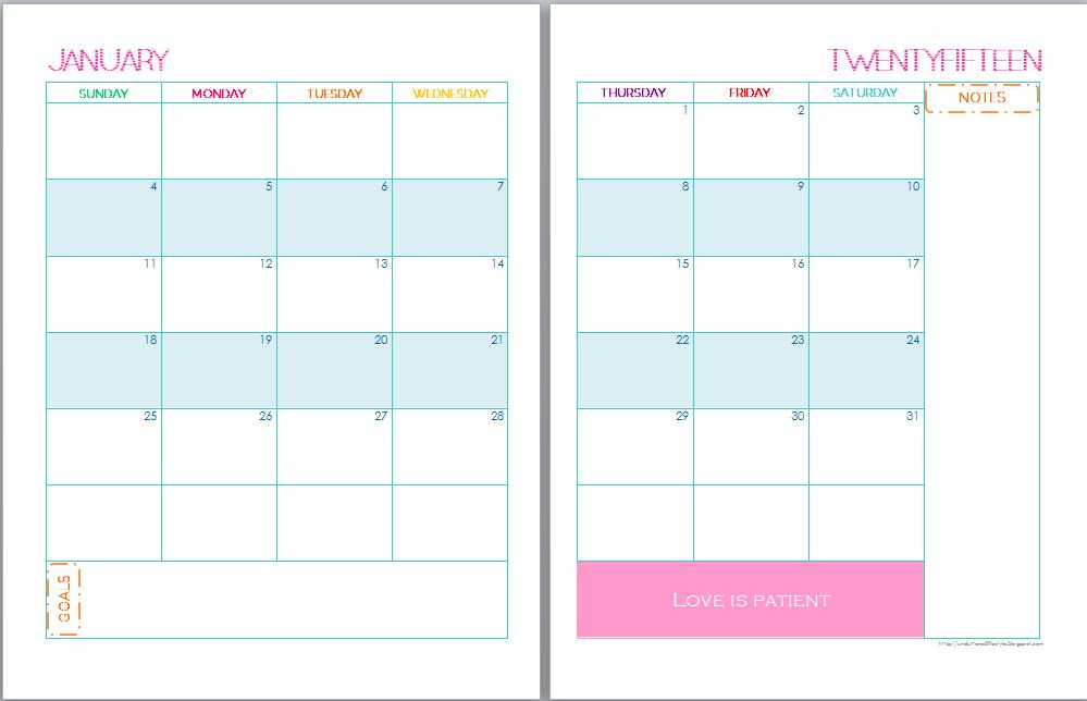 Printable Two Month Calendar Calendar Template 2018