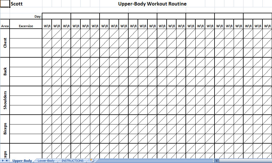 Workout Schedule Template – 10+ Free Word, Excel, Pdf Format   4
