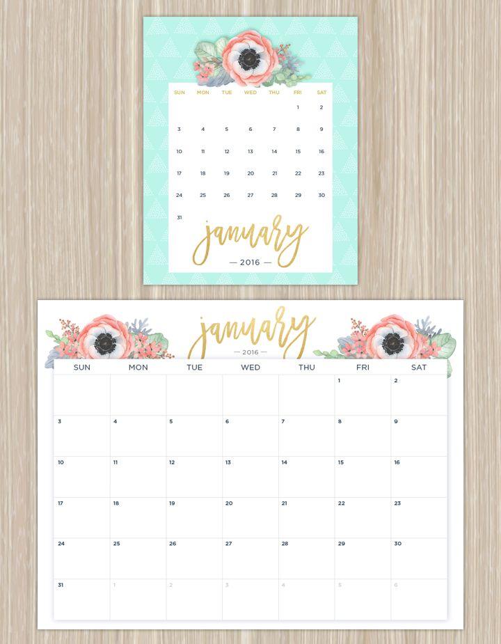1000+ Ideas About Printable Calendars On Pinterest