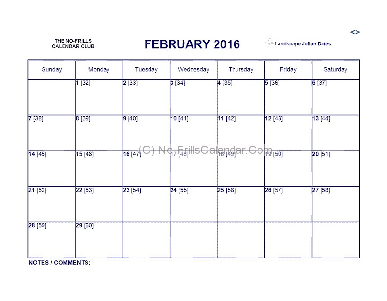 Printable  Julian Calendar  BesikEightyCo