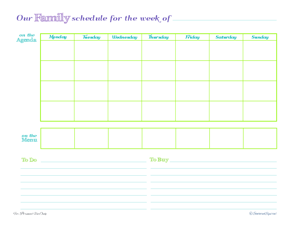 5 Best Images Of Free Printable Family Planner