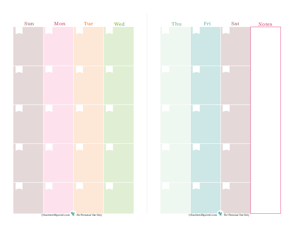6 Best Images Of 2 Page Monthly Planner Printable