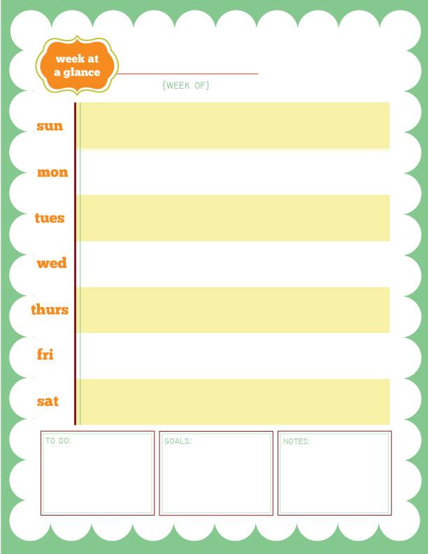 week at a glance calendar printable calendar template 2018. Black Bedroom Furniture Sets. Home Design Ideas