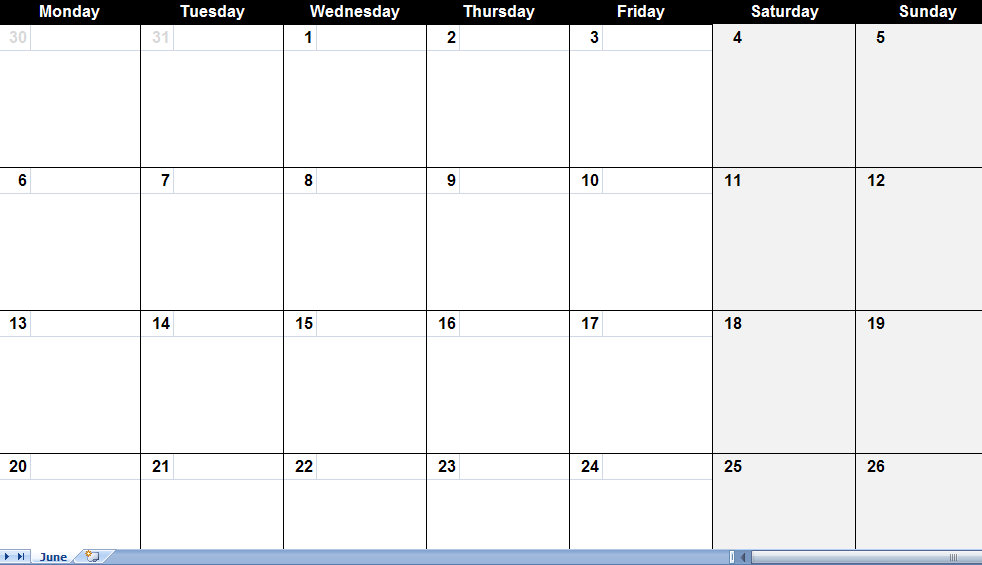Best Large Calendar Templates Printable Blank Monthly Calendar