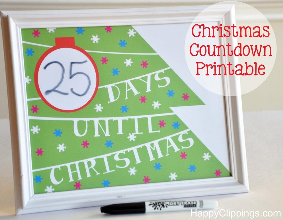 Best Photos Of Christmas Countdown Calendar Printable
