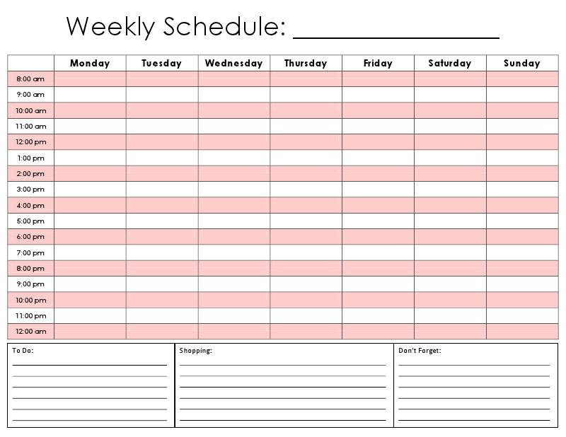Best Photos Of Daily Schedule Template Excel