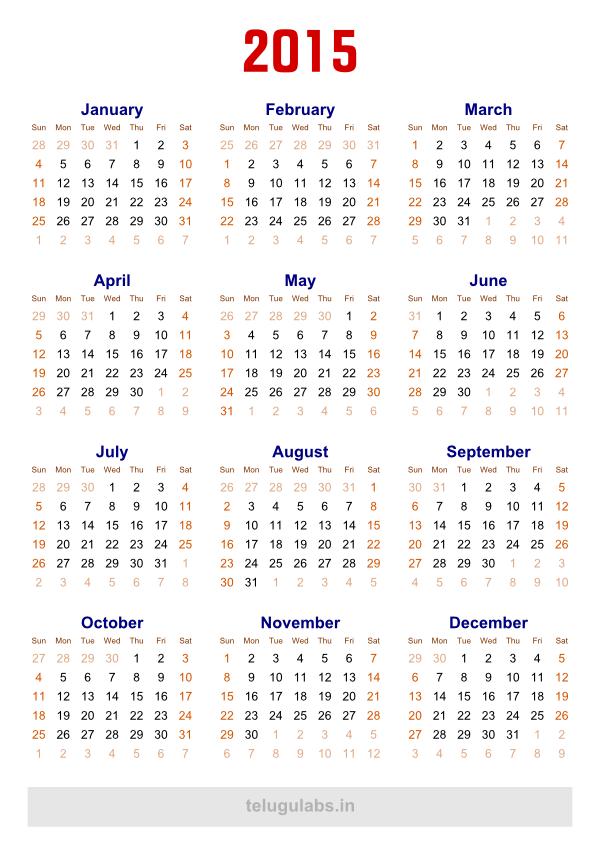 Best Photos Of Free Printable 2015 Calendar Pdf