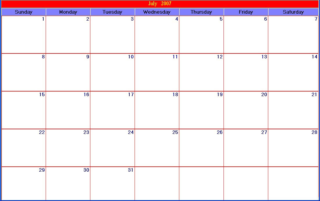 Best Photos Of Large Printable Calendar Pages