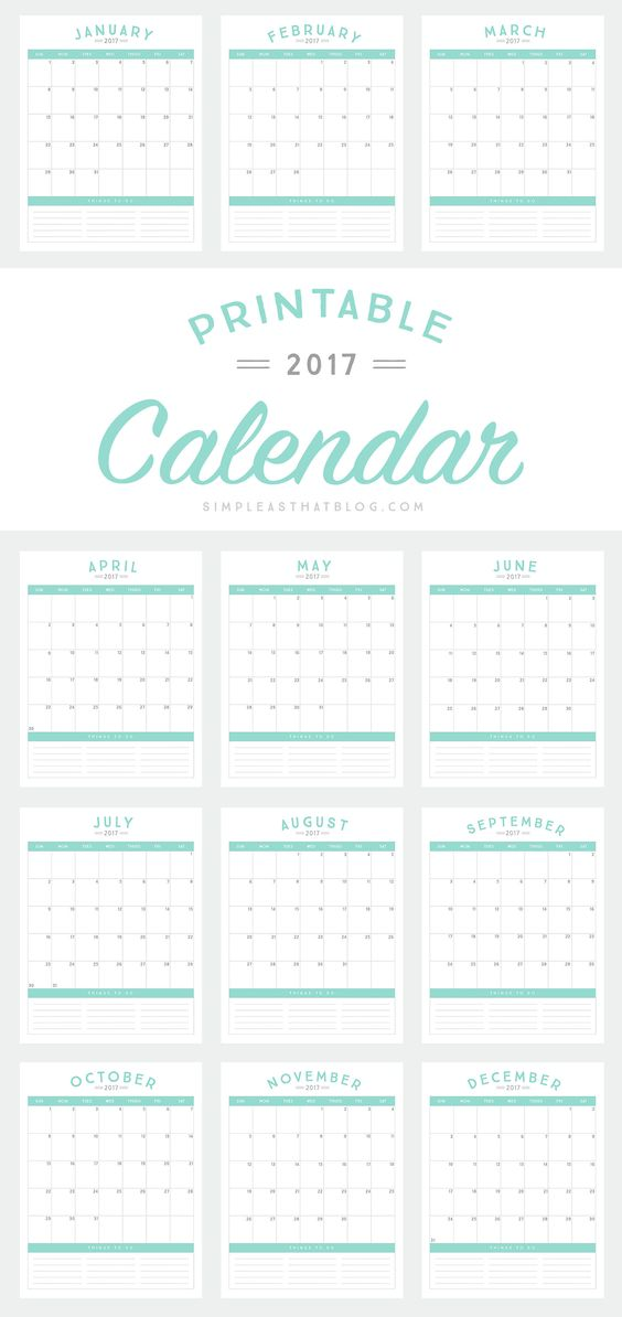 Calendar, Free Printable And Tools On Pinterest