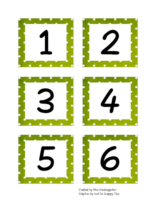 Calendar Template With Dotted Numbers