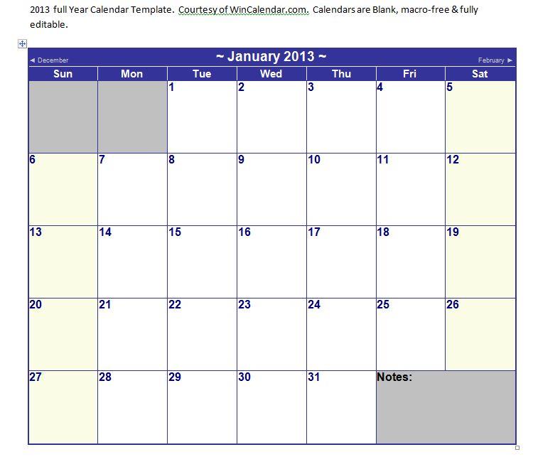 Calendar Templates In Word  2015 Monthly Calendar Word Template