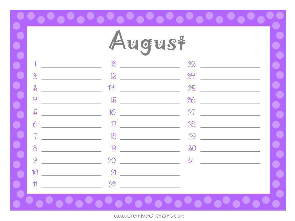 Create Birthday Calendar Online Free