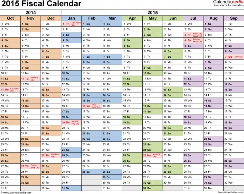 Fiscal Year 2016 Quarterly Calendar