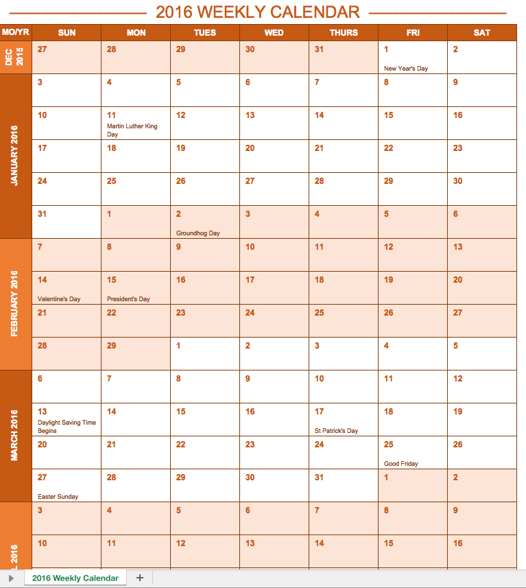 Attractive Excel Quarterly Calendar Awesome Ideas