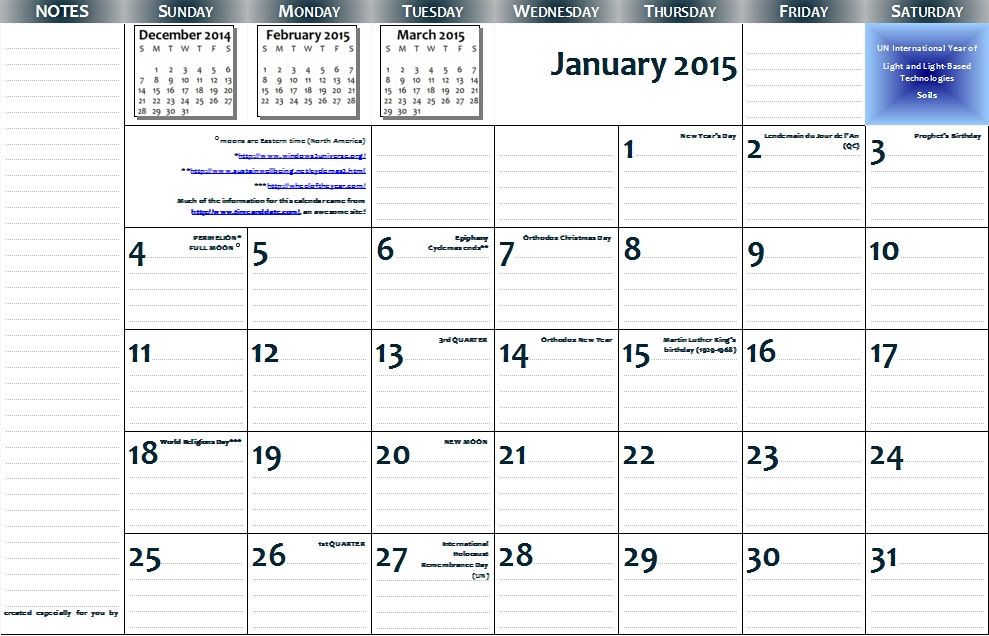 Free Printable 11 X 17 Monthly Calendar