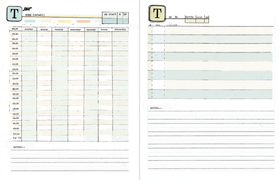 free printable weekly planner with time slots