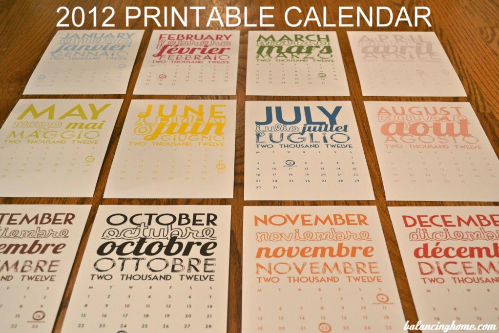 Free Printable Calendar — Printable Decor